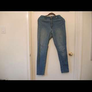 High Waisted Stretchy Jeans
