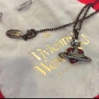 Vivian Westwood 經典款愛心星球項鍊