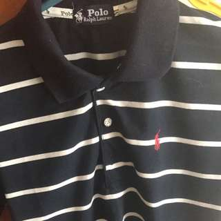 Navy Blue With White Strips