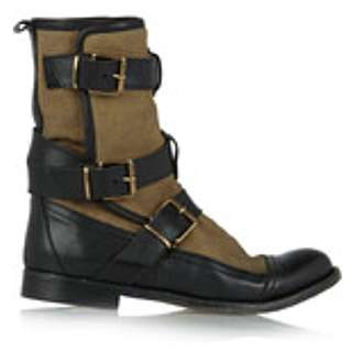 Burberry Strappy Butterfield Flat Ankle Boot 中筒魤