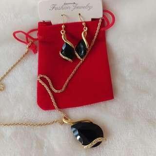 Fashion Jewelry Set Gold Plated