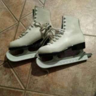 Cream Figure Skates