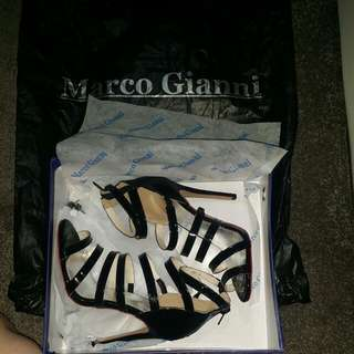 Brand New Marco Gianni Black Strappy Heels