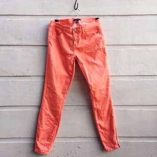 Forever 21 Orange Pink Pants