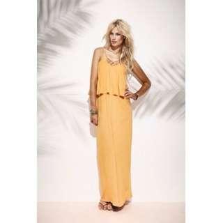 Joveeba Knotted Maxi Dress, Size 8