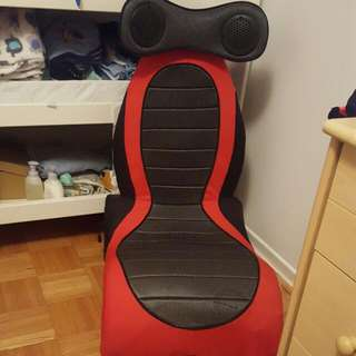Red And Black Game Chair. Speakers Don't Work. As Is Condition
