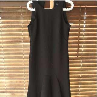 Black fishtail style dress Size 10