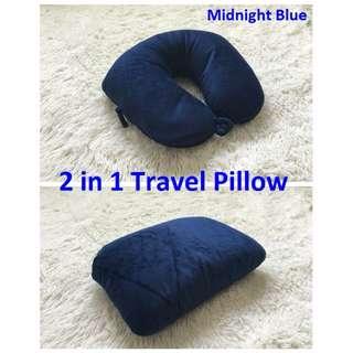 [BNIP] 2 in 1 Microbeads Travel Pillow (midnight blue)