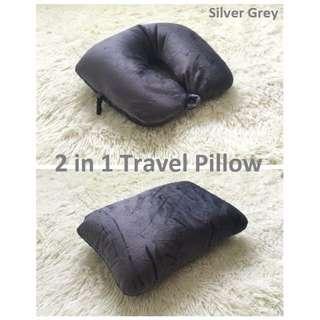 [BNIP] 2 in 1 Microbeads Travel Pillow (silver grey)