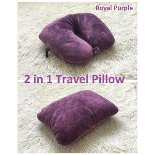 [BNIP] 2 in 1 Microbeads Travel Pillow (royal purple)