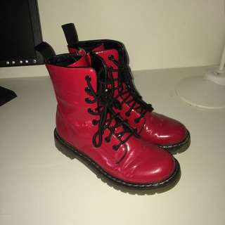 Red Boots Size 6