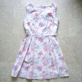 Beautiful Pinkish Subtle Floral Prints Dress