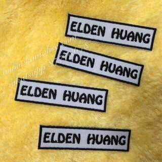 Childcare / School Personalised Fabric Name Tags By Machine Embroidery