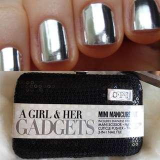 OPI Manicure Kit PLUS Stunning Silver Nail Foils