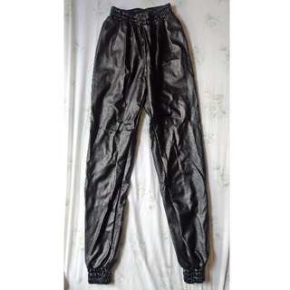 HELLO PARRY LEATHER JOGGER