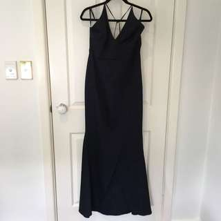 Navy Fishtail Maxi dress