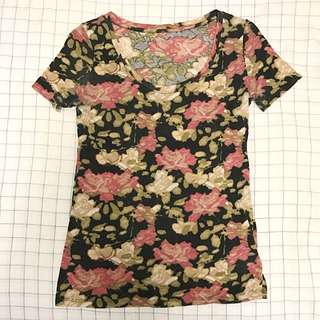 Urban Outfitters Slim Floral Tshirt