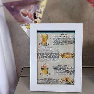 Vintage Recipe And Frame