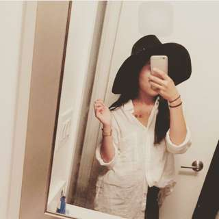 Black Floppy Hat From Marciano By Guess