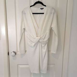 Sheike Long Sleeve White Dress