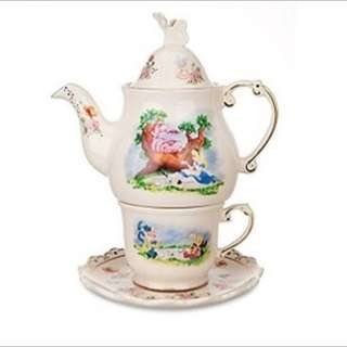 Disney Land Purchased Alice In Wonderland Tea Set For One