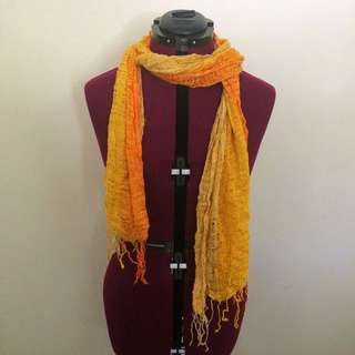 Yellow/orange Woven Scarf
