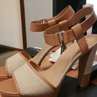 Pedro Nude And Cream Heels Size 39