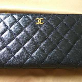 Preloved Chanel Wallet Black Kw Super