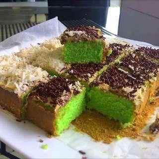 PANDAN MESSES&CHEESE SPONGE CAKE (CAKE JADUL PANDAN)