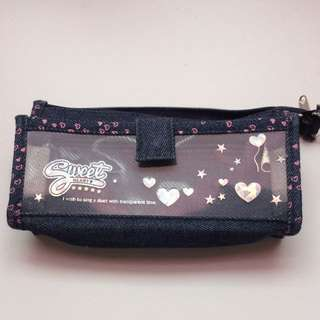 Denim Jean Pencil Case