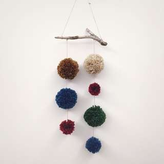 [pompombyzen] 吊飾 居家裝飾 毛線球 壁掛