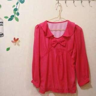 Baju Sifon Pink