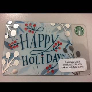 Starbucks Card Holiday 2016