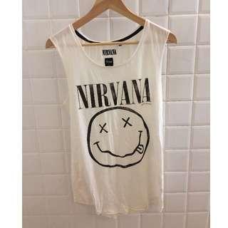 Nirvana black white band singlet