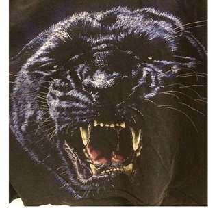 vintage grunge blue black panther puma shirt