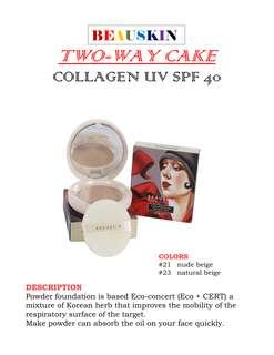 Beauskin Two-Way Cake Collagen UV SPF40