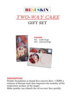 Beauskin Two Way Cake Gift SEt