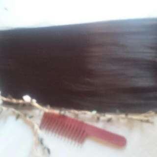 Hair extensions clip,color black