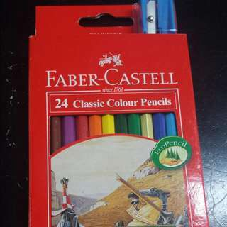 24 Pieces Faber Castell Color Pencil