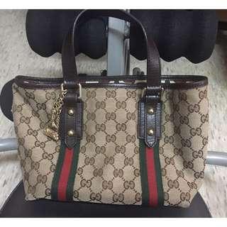 正品Gucci 小款公仔包托特包