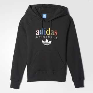 <全新正品> Adidas愛迪達 彩色LOGO帽T