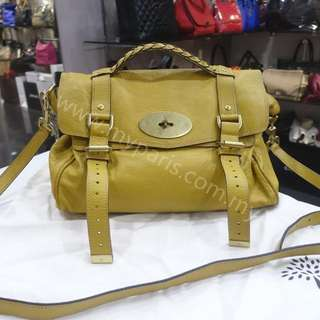 b2ea029b6aa6 Mulberry Mustard Yellow Soft Buffalo Leather Alexa