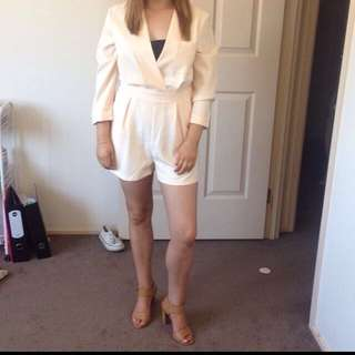 Boohoo Cream Playsuit Size 10