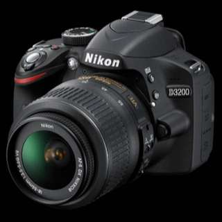 Nikon D3200 SLSR Camera + Carry Bag + Memory Card