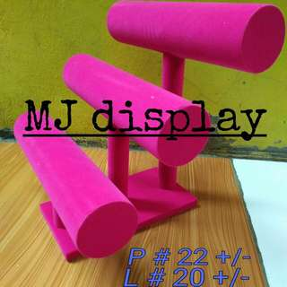 Display gelang 3susun pink