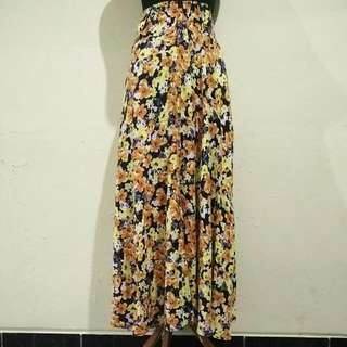 Yellowish Flower Skirt