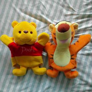 Winnie And Tigger Hand Muppets