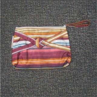 間條拉鍊雜誌袋 Stripes Magazine Bag with Zipper