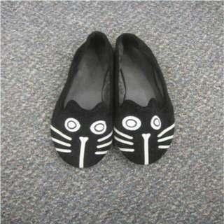 黑色貓貓平底鞋 Black Cat Flats