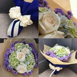 SERBA 80K bouquet flowers asli bunga